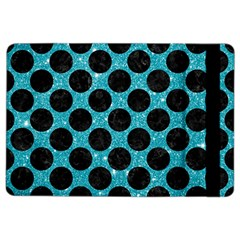 Circles2 Black Marble & Turquoise Glitter Ipad Air 2 Flip by trendistuff