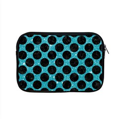 Circles2 Black Marble & Turquoise Glitter Apple Macbook Pro 15  Zipper Case by trendistuff