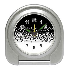 Flat Tech Camouflage Black And White Travel Alarm Clocks by jumpercat
