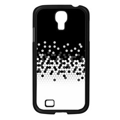 Flat Tech Camouflage Black And White Samsung Galaxy S4 I9500/ I9505 Case (black)
