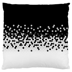 Flat Tech Camouflage Black And White Standard Flano Cushion Case (two Sides) by jumpercat