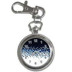 Flat Tech Camouflage Reverse Blue Key Chain Watches by jumpercat