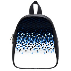 Flat Tech Camouflage Reverse Blue School Bag (small)