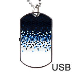 Flat Tech Camouflage Reverse Blue Dog Tag Usb Flash (one Side) by jumpercat