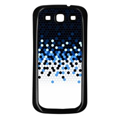 Flat Tech Camouflage Reverse Blue Samsung Galaxy S3 Back Case (black) by jumpercat
