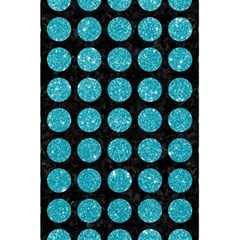 Circles1 Black Marble & Turquoise Glitter (r) 5 5  X 8 5  Notebooks by trendistuff