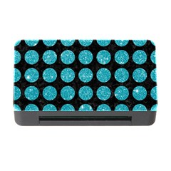 Circles1 Black Marble & Turquoise Glitter (r) Memory Card Reader With Cf by trendistuff