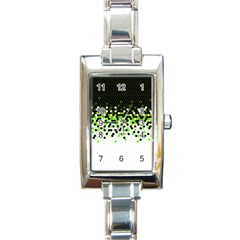 Flat Tech Camouflage Reverse Green Rectangle Italian Charm Watch by jumpercat