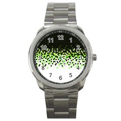 Flat Tech Camouflage Reverse Green Sport Metal Watch