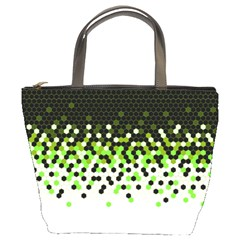 Flat Tech Camouflage Reverse Green Bucket Bags by jumpercat