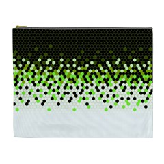Flat Tech Camouflage Reverse Green Cosmetic Bag (xl)