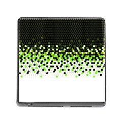 Flat Tech Camouflage Reverse Green Memory Card Reader (square) by jumpercat