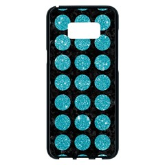 Circles1 Black Marble & Turquoise Glitter (r) Samsung Galaxy S8 Plus Black Seamless Case by trendistuff