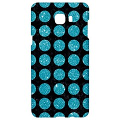 Circles1 Black Marble & Turquoise Glitter (r) Samsung C9 Pro Hardshell Case  by trendistuff