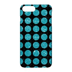 Circles1 Black Marble & Turquoise Glitter (r) Apple Iphone 8 Plus Hardshell Case