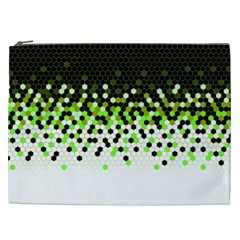 Flat Tech Camouflage Reverse Green Cosmetic Bag (xxl)  by jumpercat