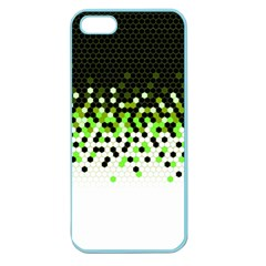 Flat Tech Camouflage Reverse Green Apple Seamless Iphone 5 Case (color) by jumpercat
