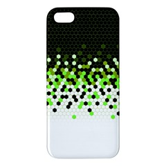 Flat Tech Camouflage Reverse Green Iphone 5s/ Se Premium Hardshell Case by jumpercat