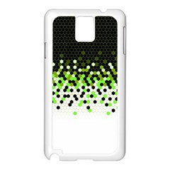 Flat Tech Camouflage Reverse Green Samsung Galaxy Note 3 N9005 Case (white)