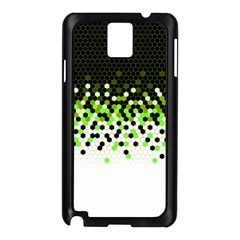 Flat Tech Camouflage Reverse Green Samsung Galaxy Note 3 N9005 Case (black) by jumpercat