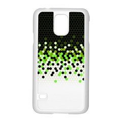 Flat Tech Camouflage Reverse Green Samsung Galaxy S5 Case (white) by jumpercat