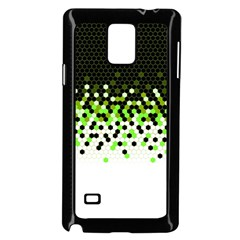 Flat Tech Camouflage Reverse Green Samsung Galaxy Note 4 Case (black) by jumpercat