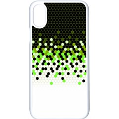 Flat Tech Camouflage Reverse Green Apple Iphone X Seamless Case (white) by jumpercat