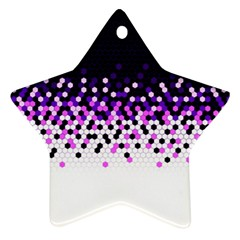 Flat Tech Camouflage Reverse Purple Star Ornament (two Sides) by jumpercat