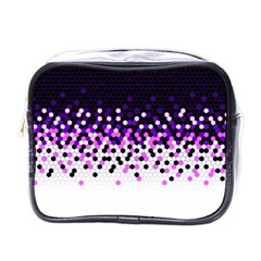 Flat Tech Camouflage Reverse Purple Mini Toiletries Bags by jumpercat