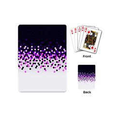 Flat Tech Camouflage Reverse Purple Playing Cards (mini)  by jumpercat