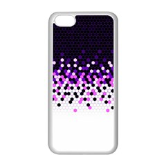 Flat Tech Camouflage Reverse Purple Apple Iphone 5c Seamless Case (white)