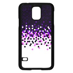 Flat Tech Camouflage Reverse Purple Samsung Galaxy S5 Case (black) by jumpercat