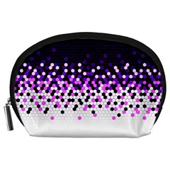 Flat Tech Camouflage Reverse Purple Accessory Pouches (large)