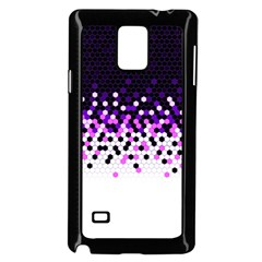 Flat Tech Camouflage Reverse Purple Samsung Galaxy Note 4 Case (black) by jumpercat