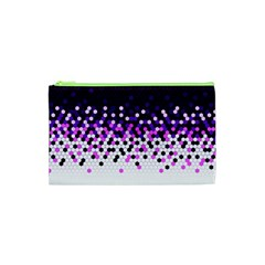 Flat Tech Camouflage Reverse Purple Cosmetic Bag (xs)