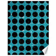 Circles1 Black Marble & Turquoise Glitter Canvas 36  X 48   by trendistuff