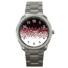 Flat Tech Camouflage Reverse Red Sport Metal Watch by jumpercat