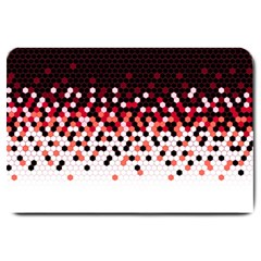 Flat Tech Camouflage Reverse Red Large Doormat
