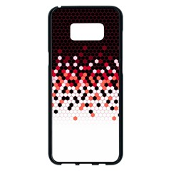 Flat Tech Camouflage Reverse Red Samsung Galaxy S8 Plus Black Seamless Case
