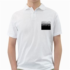 Flat Tech Camouflage White And Black Golf Shirts by jumpercat