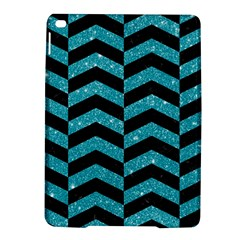 Chevron2 Black Marble & Turquoise Glitter Ipad Air 2 Hardshell Cases by trendistuff