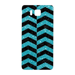 Chevron2 Black Marble & Turquoise Glitter Samsung Galaxy Alpha Hardshell Back Case by trendistuff