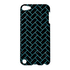 Brick2 Black Marble & Turquoise Glitter (r) Apple Ipod Touch 5 Hardshell Case by trendistuff