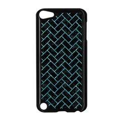 Brick2 Black Marble & Turquoise Glitter (r) Apple Ipod Touch 5 Case (black) by trendistuff