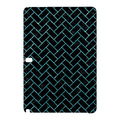 Brick2 Black Marble & Turquoise Glitter (r) Samsung Galaxy Tab Pro 12 2 Hardshell Case by trendistuff