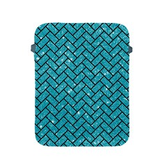 Brick2 Black Marble & Turquoise Glitter Apple Ipad 2/3/4 Protective Soft Cases by trendistuff