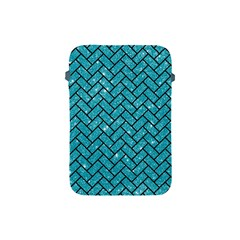 Brick2 Black Marble & Turquoise Glitter Apple Ipad Mini Protective Soft Cases by trendistuff
