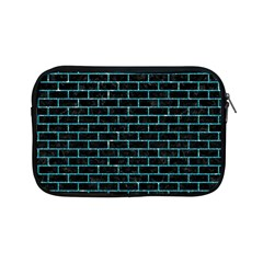 Brick1 Black Marble & Turquoise Glitter (r) Apple Ipad Mini Zipper Cases by trendistuff