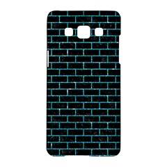 Brick1 Black Marble & Turquoise Glitter (r) Samsung Galaxy A5 Hardshell Case  by trendistuff