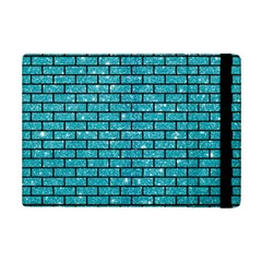 Brick1 Black Marble & Turquoise Glitter Ipad Mini 2 Flip Cases by trendistuff